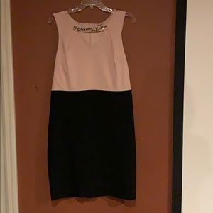 Black collection peach and black dress size 16/XL